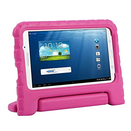 finest selection fd6f4 bd69a HDE Kids Case for Samsung Galaxy Tab E Lite 7 and Galaxy Tab 3 Lite 7.0 -  Shockproof Kid Friendly Protective Handle Cover Stand (Hot Pink)