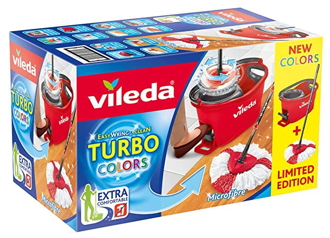 Amazon.com: Vileda EasyWring and Clean Box Floor Cleaning Set, Plastic, red, 29.6 x 48,6 cm 2 Units: Kitchen & Dining