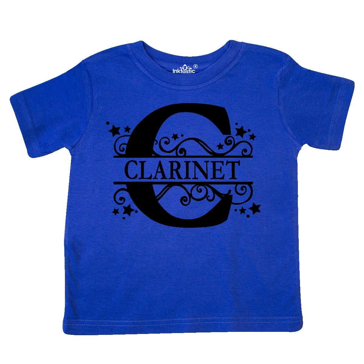 inktastic Clarinet Letter C Full Image Toddler T-Shirt