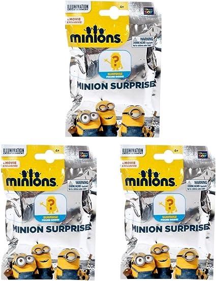 Minions Movie Minion Surprise Mini Figure Mystery Pack of 3