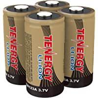 Arlo Certified: Tenergy 3.7V Li-ion Rechargeable Battery for Arlo Security Cameras (VMC3030/VMK3200/VMS3330/3430/3530) 650mAh RCR123A UL UN Certified 4 Pack