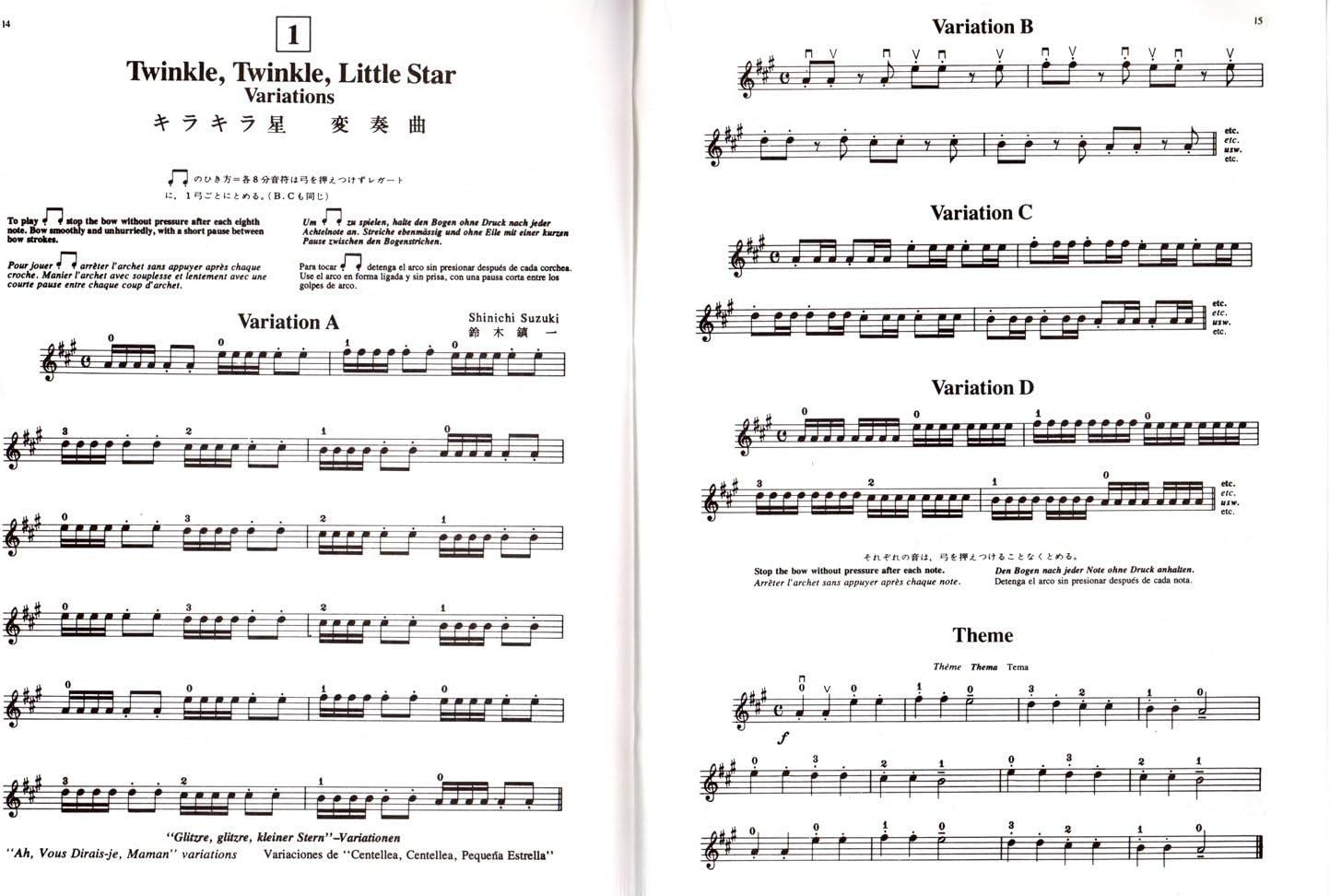 Suzuki Violin School Violin Part – Volume 1 + 2 – Violín Escuela ...
