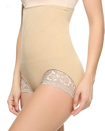 8214b9722e5b6 Junlan Invisable Strapless Body Shaper High Waist Tummy Control Panty Slim  Butt Lifter (M