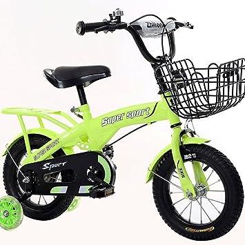 Bicyclehx Bicicleta Ligera de Marco de magnesio para Niños y Niñas, Bicicleta Infantil con Ruedas
