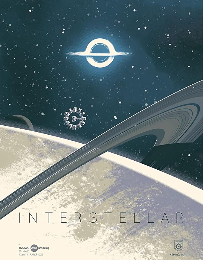 Interstellar 12 X16 Original Promo Movie Poster 2014 Imax Amc Version Christopher Nolan At Amazon S Entertainment Collectibles Store