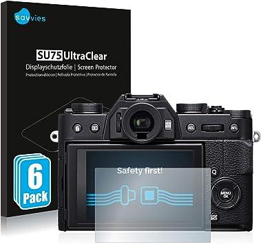 6x Displayschutzfolie für FujiFilm X-T20 Klar Schutzfolie Displayfolie