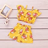 Girl Shorts Set Toddler Off The Shoulder Outfit