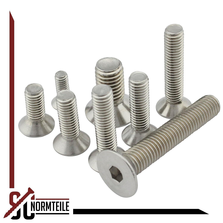 Senkschrauben ISK SC-Normteile/® Werkstoff: Edelstahl A2 V2A - DIN 7991//ISO 10642 SC7991 - M12x35 - Senkkopfschrauben mit Innensechskant Vollgewinde 50 St/ück