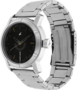 3021SM02 - Fastrack ANALG Men's, 50m Water Resistant, Metal, Silver with Black Dial