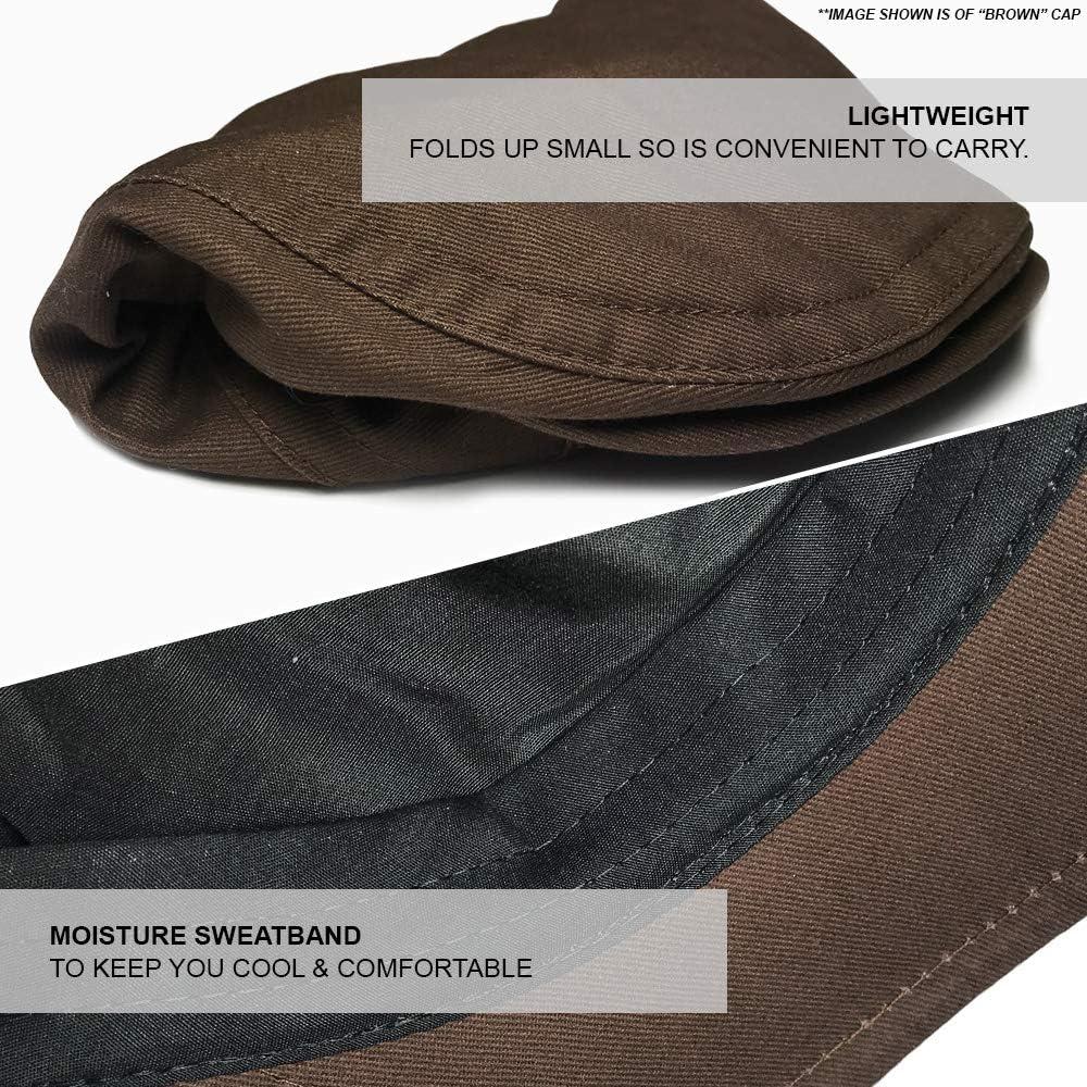 TOSKATOK/® Mens Brushed Cotton Flat Cap