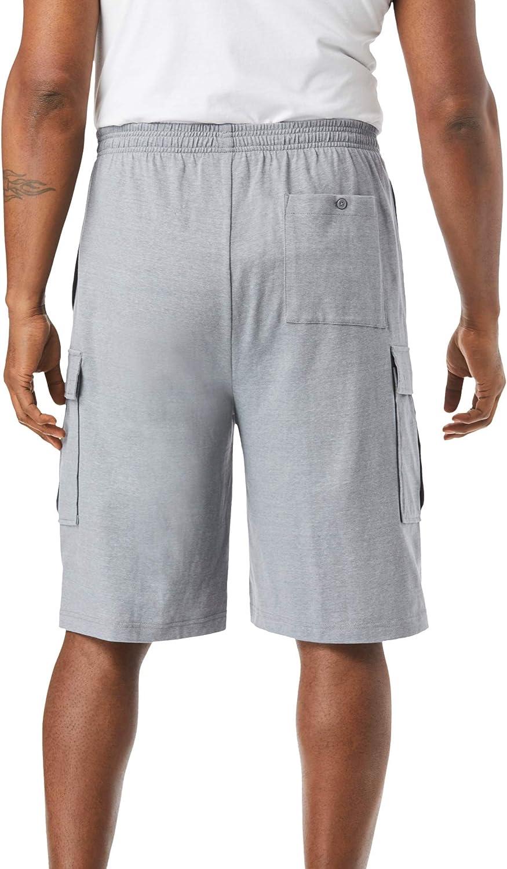 KingSize Mens Big /& Tall Lightweight Jersey Cargo Shorts