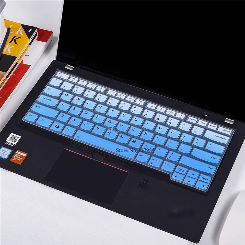 Laptop Keyboard Cover Skins for Lenovo Thinkpad X1 Carbon 14 2017 New S2 E465 E470 E470C 14 Inch -Gradualblue Thinkpad X1 Yoga 2017 Gen