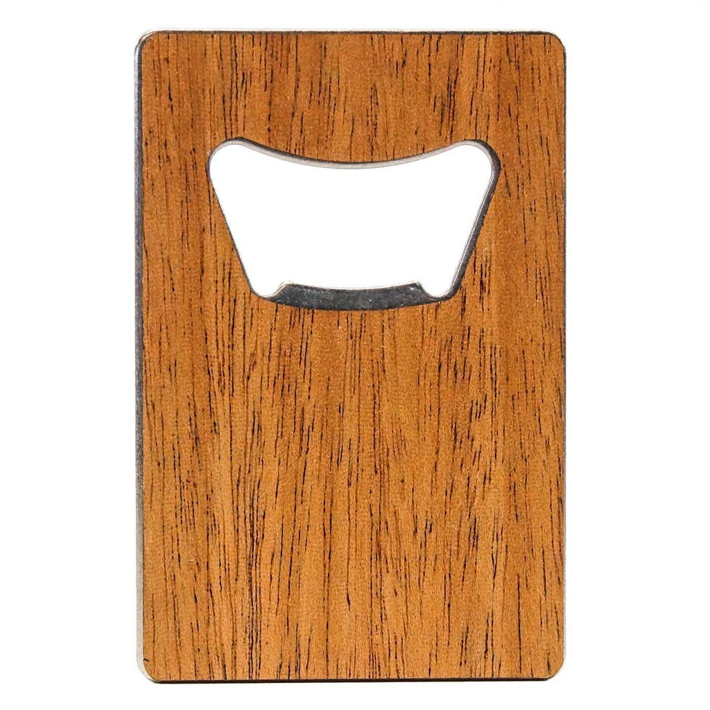 WOODCHUCK USA Wooden Credit Card Bottle Opener in Mahogany - 100% Premium Wood
