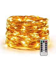 YIHONG USB Powered Fairy String Lights,33 ft Christmas Lights Twinkle Firefly Lights for Bedroom Garden Party Indoor Decoration