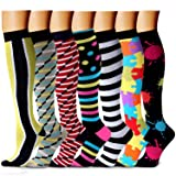 CHARMKING Compression Socks 15-20 mmHg is BEST Graduated Athletic & Medical for Men & Women Running, Travel, Nurses, Pregnant - Boost Performance, Blood Circulation & Recovery(Small/Medium,Assorted 6) (Color: 04 Yellow/Gray/Red/Multi/White/Multi/Black, Tamaño: Small/Medium (US Women 5.5-8.5/US Men 5-9))