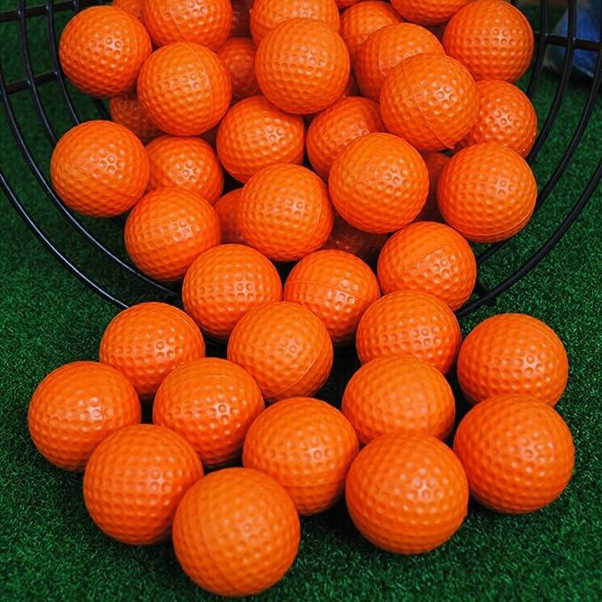 c-pioneer 10 unidades, espuma de poliuretano de golf pelotas de práctica elástico esponja interior práctica pelotas de formación, Anaranjado: Amazon.es: ...