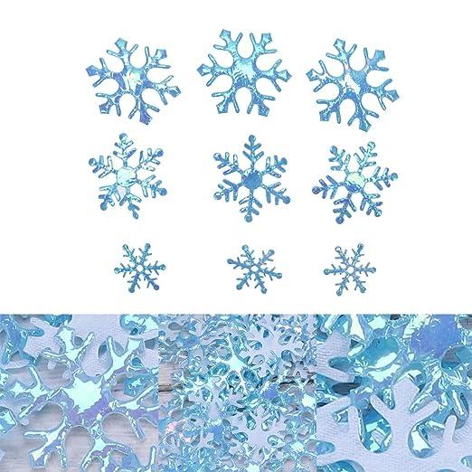 STOBOK 600 piezas de tamaño mixto azul brillo copos confeti ...