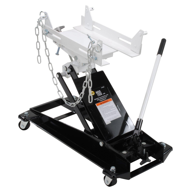 Amazon.com: Omega 41100C Black Low Profile Hydraulic Transmission Jack - 1100 lb. Capacity: Automotive