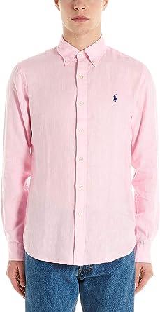 Polo Ralph Lauren Camisa Hombre Modelo 710-794142 Rosa Rosa XL: Amazon.es: Ropa y accesorios