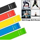 Everwell Fitnessbänder/Widerstandsbänder, 5 Set Gymnastikband aus Latex, Trainingsbänder, Loop Bänder, Mini Bands, Übungsbänder für Muskelaufbau Physiotherapie Pilates Yoga Gymnastik und Crossfit