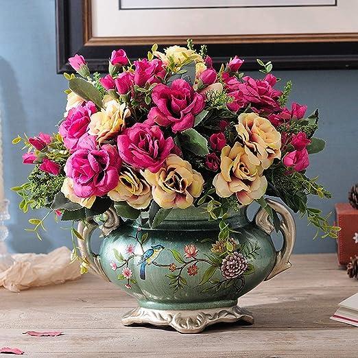 Floreros retro for centros de mesa, Floreros de flores secas de ...