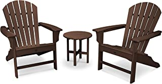 product image for Trex Outdoor Furniture Yacht Club 3-Piece Shellback Adirondack Chair Set with Side Table