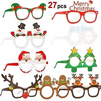 2pcs Wedding Christmas Party Tree Reindeer Glasses Fancy Dress Sunglasses