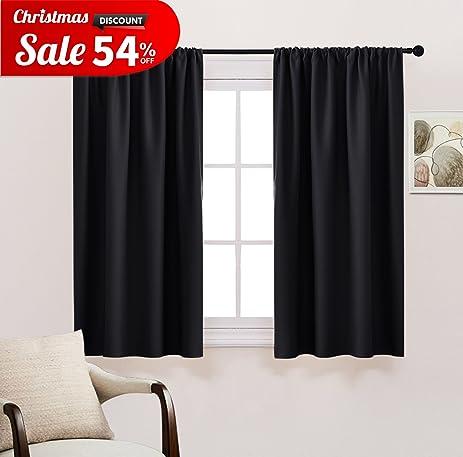 New Design Bedroom Blackout Curtains   PONY DANCE Solid Rod Pocket Energy  Efficient Blackout Curtain Panels