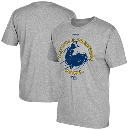 d53e3a21b Amazon.com : Reebok Nashville Predators Catfish Toss Heathered Grey ...
