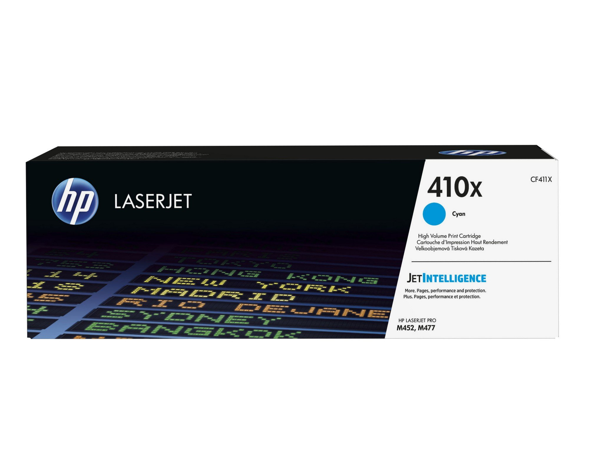 HP 410X (CF411X) Toner Cartridge, Cyan High Yield for HP Color LaserJet Pro M452dn, M452dw, M452nw, MFP M377dw, MFP M477fdn, MFP M477fdw, MFP M477fnw
