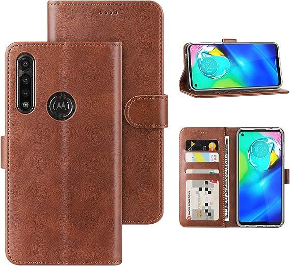 Wallet Case for Moto G Fast Moto G Fast, Pink Unique 5 Card Slots Magnetic Closure Kickstand Shockproof PU Leather Flip Case for Motorola Moto G Fast 2020