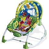Asalvo Evolutiva - Hamaca para bebé, diseño Ciudad, color verdes