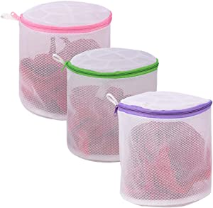 YLWEFT Bra Washing Bags for Laundry, Lingerie Bags for Laundry, Sock Bag for Washing Machine, Underwear Washing Bag, Bra Washer Protector, Mesh Laundry Bag(Bra Bag, 3 Set)