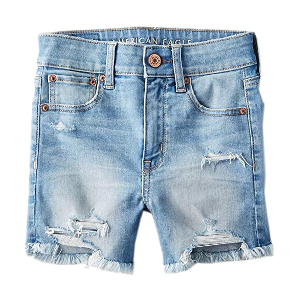 light denim jean shorts