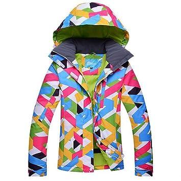 niedrigerer Preis mit Sonderrabatt Ausverkauf RIVIYELE Damen Snow Jacke Winddicht Fleece Skijacke Funktionsjacke  Skibekleidung Verschleißfest Wasserdicht Von 1000mm