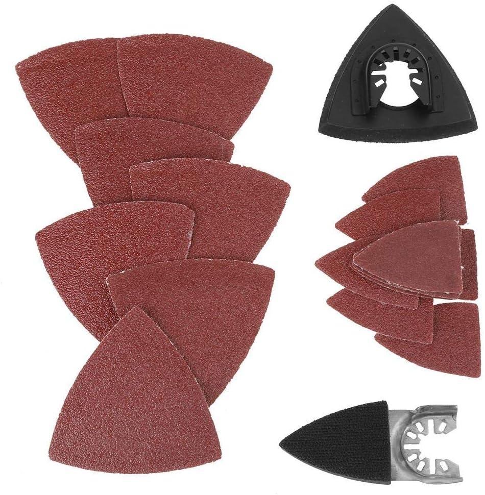 100 Pcs Finger Sanding Sheets Pads Paper Set Oscillating Multitool For Fein New