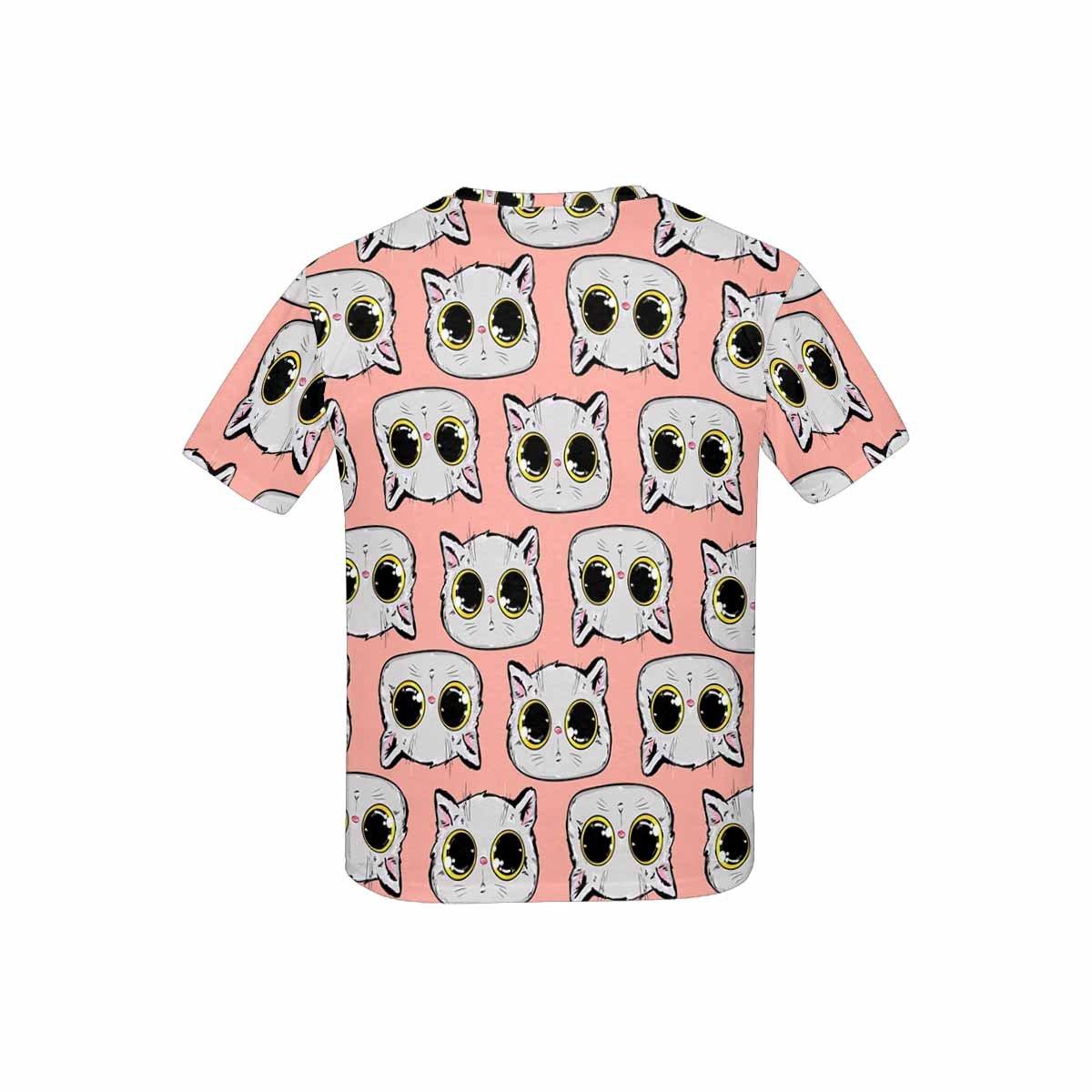 INTERESTPRINT Kids T-Shirt Cat with Bright Eyes Cute Kitten XS-XL