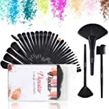 Professional Makeke Brushes, Black Make-up Brushes Set Kabuki Eyeshadow Eyeliner Lip Face Brushes Beauty Tools Kits