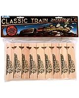 "Kangaroo's Wooden Train Whistles, Train Engineer Whistles, 6"" (18 Pack)"