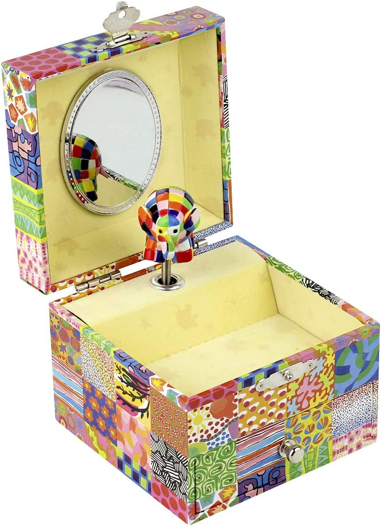 Trousselier Barrio Sésamo - Caja de música para bebés Elmer (S20064): Amazon.es: Juguetes y juegos