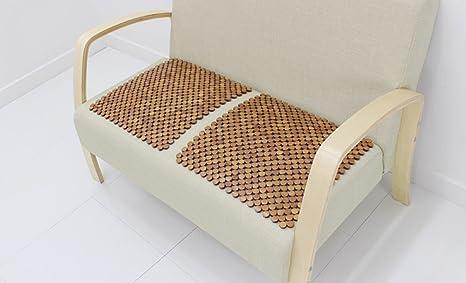 Bamboo Chair Cushion 2 Pcs, Natural Bamboo Breathable Chair Cushion U0026 Car  Seat Pads (