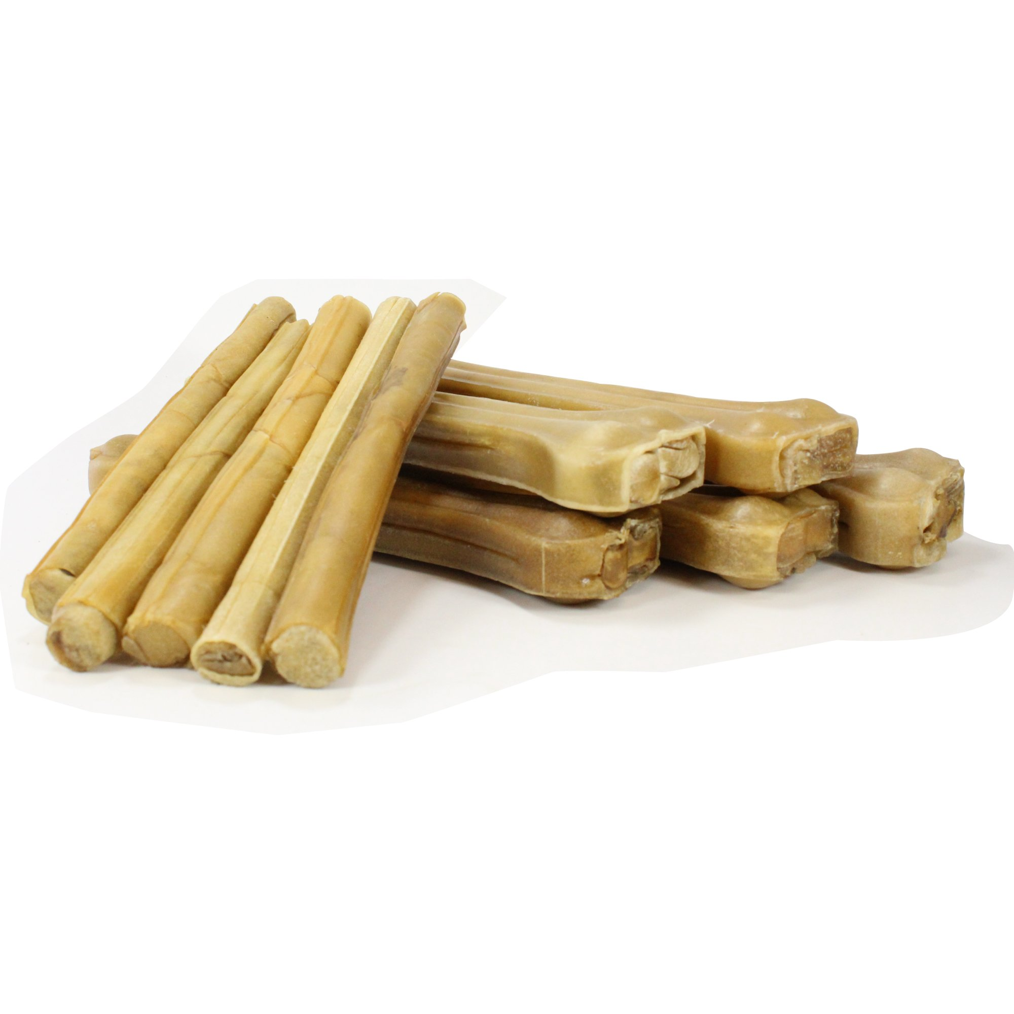 Raw Paws Dog Treats Variety Pack 10'' Compressed Rawhide Sticks & 10'' Pressed Rawhide Bones, 10-count - Large Dog Bones for Aggressive Chewers - Rawhide Chews Dog Treat Value Pack - Variety Dog Chews by Raw Paws (Image #1)