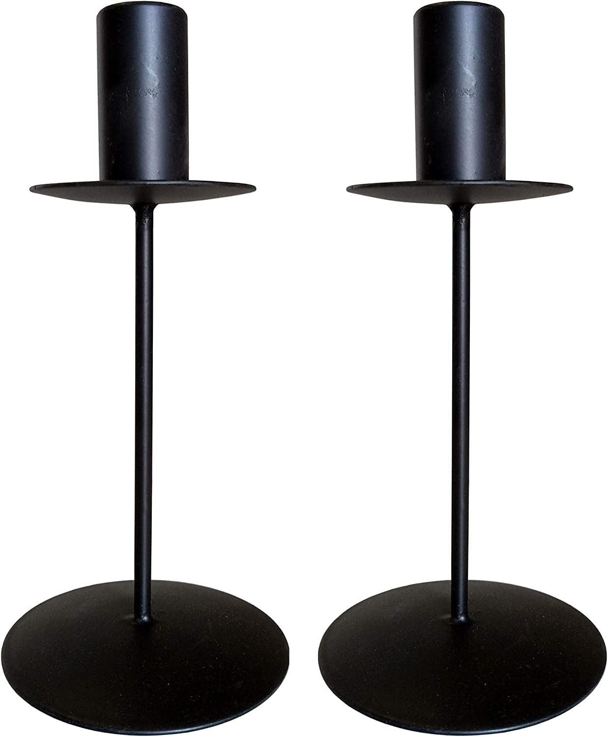 Great for Weddings Party Spa Gifts W5 Hosley Set of 2 Taper Metal Candle Holders 6 Inch High