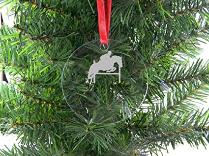 Personalized Custom Equestrian Horse Jumping Clear Acrylic Hanging Christmas  Tree Ornament with Red Ribbon - Amazon.com: Personalized Custom Equestrian Horse Jumping Clear
