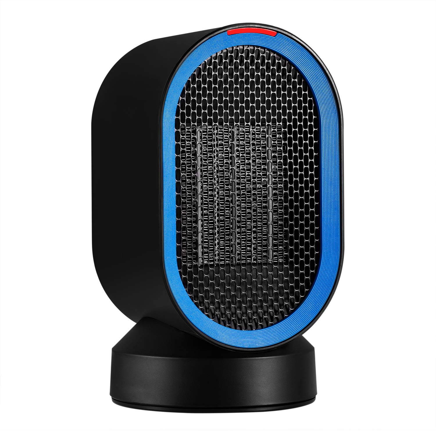 AIVANT Auto Oscillating Heater 600W PTC Handy Ceramic Heater Portable Electric Heater Home Office Fan Heater Desktop Space Warmer for Winter (Blue)
