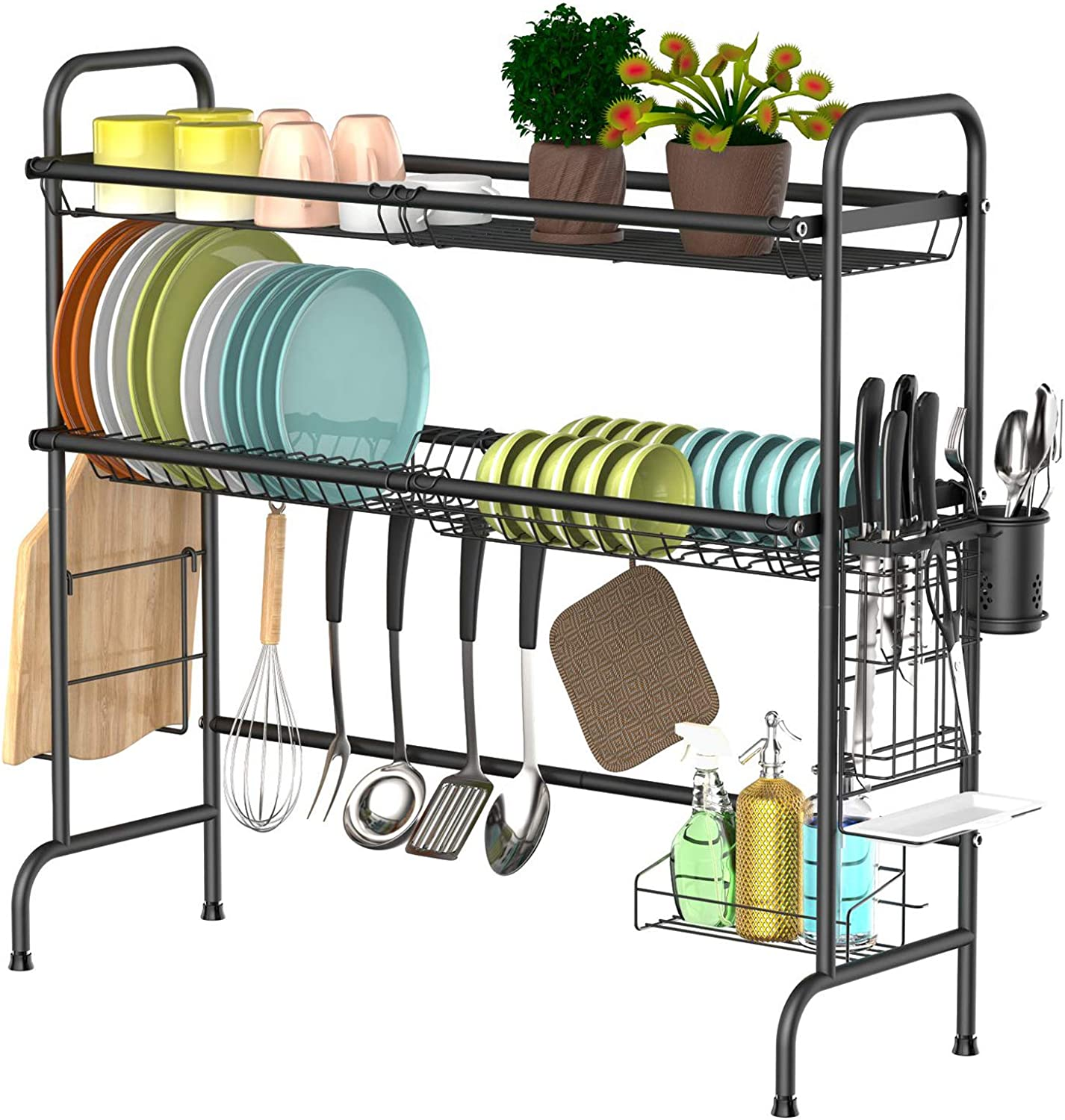 Over Sink Dish Fees free!! Rack Warmfill Stainless Steel Tier Max 79% OFF 2 D