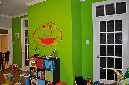 Elmo Sticker Elmo Decal Elmo Wall Art Sesame Street Nursery Room Kids  Bedroom Childrenu0027s Room Wall