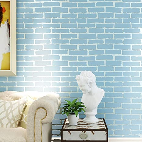 Amazon.com: MKKM 3D White Brick Brick Wallpaper Bedroom ...