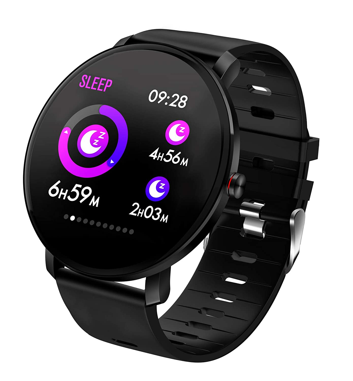 TDOR Smartwatch Deportivo para Hombre Llamadas y Whatsapp, Monitor de Actividad, Color Negro