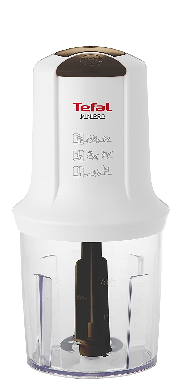 Tefal Minipro Multi-Function Chopper, 500 W With Two Speeds And Four Removable Stainless Blades MQ714140